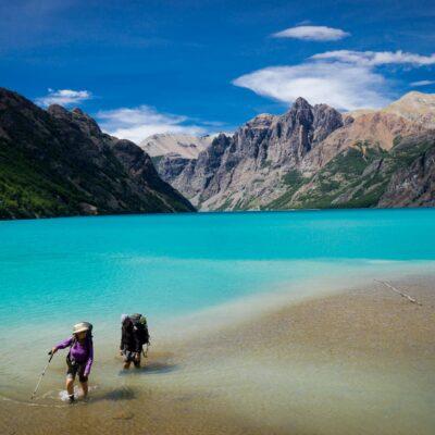 Lake Verde. Patagonia National Park Chile.
