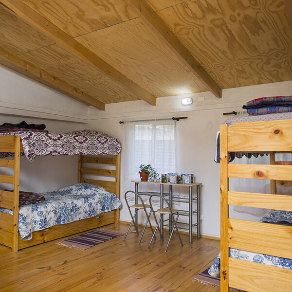 Our ample hostel rooms.