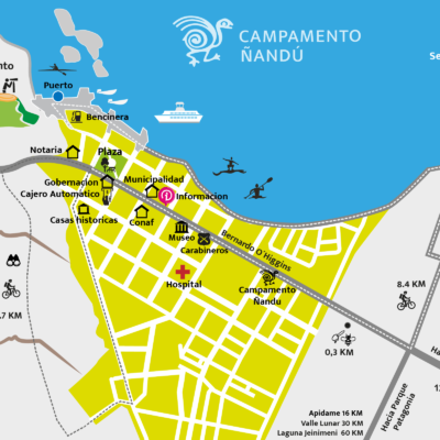 Chile Chico City Tour and reference map.